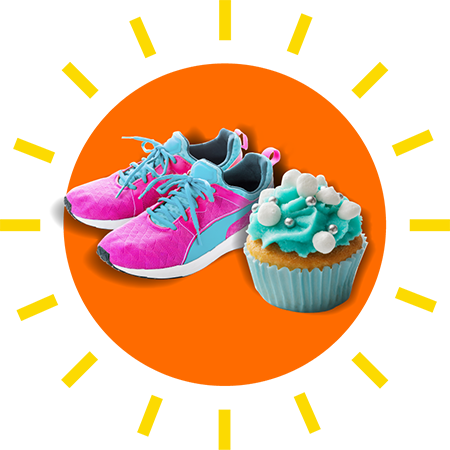 fundraise image shoes and cake