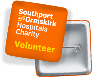 southport and ormskirk hospitals charity volunteer badge